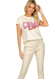 Ibana |  Leather pants Colette | white  | Picture 6