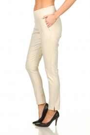 Ibana |  Leather pants Colette | white  | Picture 3