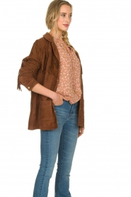Ibana |  Suede fringe jacket Geisha | camel  | Picture 5
