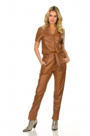 Ibana |  Leather jumpsuit Tamar | camel  | Picture 2