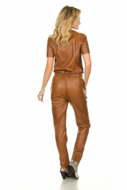 Ibana |  Leather jumpsuit Tamar | camel  | Picture 5