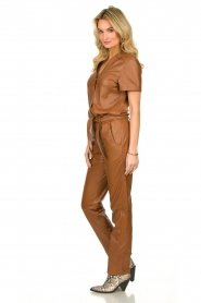 Ibana |  Leather jumpsuit Tamar | camel  | Picture 4