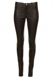 Ibana |  Leather stretch pants Tarte Tatin | black  | Picture 1