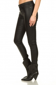 Ibana |  Leather stretch pants Tarte Tatin | black  | Picture 4