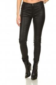 Ibana |  Leather stretch pants Tarte Tatin | black  | Picture 2