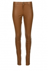 Ibana |  Stretch leather pants Tarte Tatin | camel  | Picture 1