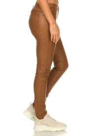 Ibana |  Stretch leather pants Tarte Tatin | camel  | Picture 4