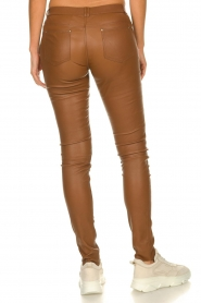 Ibana |  Stretch leather pants Tarte Tatin | camel  | Picture 5