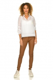 Ibana |  Stretch leather pants Tarte Tatin | camel  | Picture 3