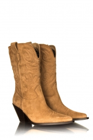 Toral : Western suede boots Bambi | brown - img3