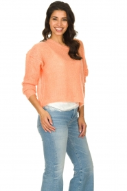 American Vintage |  Knitted sweater Zazow | peach  | Picture 4