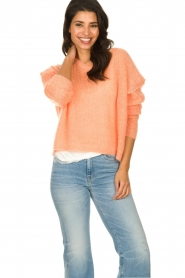 American Vintage |  Knitted sweater Zazow | peach  | Picture 2
