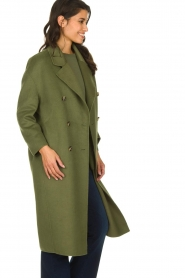 American Vintage |  Oversized coat Dadoulove | green  | Picture 4