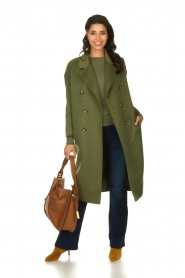 American Vintage |  Oversized coat Dadoulove | green  | Picture 3