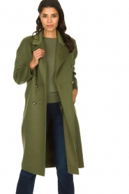 American Vintage |  Oversized coat Dadoulove | green  | Picture 2
