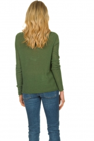 American Vintage |  Finely knitted wool sweater Nani | green  | Picture 4