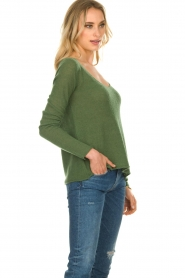American Vintage |  Finely knitted wool sweater Nani | green  | Picture 3