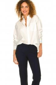 American Vintage |  Classic blouse Krimcity | white   | Picture 4