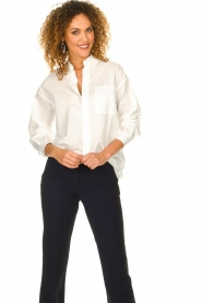 American Vintage |  Classic blouse Krimcity | white   | Picture 2