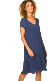 American Vintage |  Wide midi dress Hurricane | blue  | Picture 4