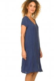 American Vintage |  Wide midi dress Hurricane | blue  | Picture 5