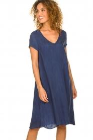 American Vintage |  Wide midi dress Hurricane | blue  | Picture 3