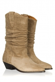 Catarina Martins |  Suede boot Aba | sand  | Picture 3
