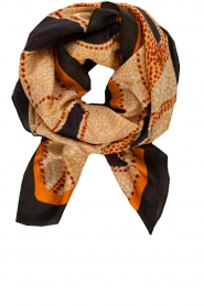 Moment by Moment |  Silk scarf Beau | orange  | Picture 1