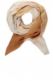 Moment by Moment |  Linen scarf Blue | brown  | Picture 1