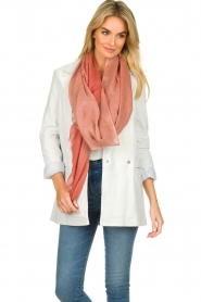 Moment by Moment |  Linen scarf Blue | pink  | Picture 2