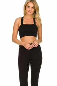 Lune Active |  Bandeau sports bra Pique | black  | Picture 4