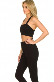 Lune Active |  Bandeau sports bra Pique | black  | Picture 6