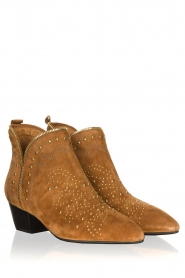 Sofie Schnoor |  Suede studded ankle boots Vally | brown  | Picture 3