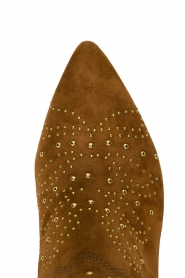 Sofie Schnoor |  Suede studded ankle boots Vally | brown  | Picture 5