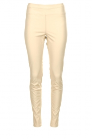 Knit-ted |  Faux leather pants Amber | naturel  | Picture 1