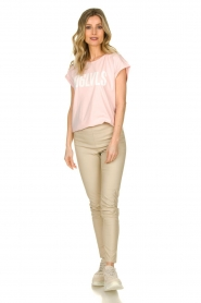 Knit-ted |  Faux leather pants Amber | naturel  | Picture 3