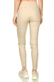 Knit-ted |  Faux leather pants Amber | naturel  | Picture 5