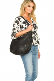 Depeche |  Leather shoulder bag Reese | black  | Picture 3