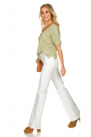 7 For All Mankind :  Flared jeans Lisha l34 | wit  - img3