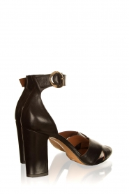 Matteo Pitti | Leather sandals Daphne | black  | Picture 4
