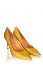 Matteo Pitti | Leather pumps Tejus | yellow  | Picture 3
