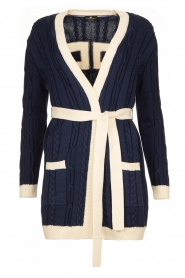 ELISABETTA FRANCHI |  Knitted cardigan Nia | blue  | Picture 1