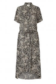 Lolly's Laundry |  Printed midi dress Blake | black  | Picture 1