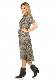 Lolly's Laundry |  Printed midi dress Blake | black  | Picture 4
