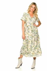 Lolly's Laundry |  Printed maxi dress Freddy | natural  | Picture 3