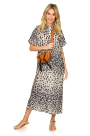Moment by Moment |  Leopard printed kaftan Nice | grey  | Picture 3