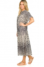 Moment by Moment |  Leopard printed kaftan Nice | grey  | Picture 4