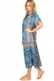 Moment by Moment |  Leopard printed kaftan Harleem | blue  | Picture 4