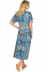 Moment by Moment |  Leopard printed kaftan Harleem | blue  | Picture 5