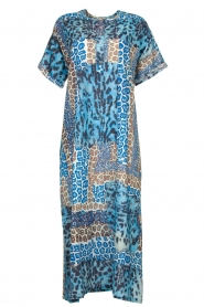 Moment by Moment |  Leopard printed kaftan Harleem | blue  | Picture 1
